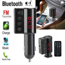 High Quality  car-styling   Wireless LCD Bluetooth Car Kit MP3 Player FM Transmitter Dual USB Charger Handsfree Remote