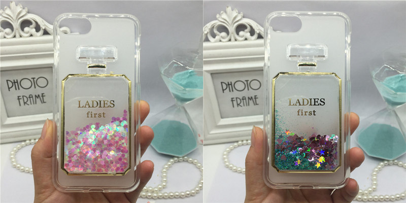 Cute Amusing Mobile phone Case cover for Acer Liquid Z530 Glitter Liquid Quicksand Cases  Bling Wine Glass Hourglass