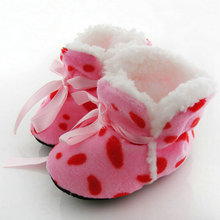 1 Pair New Cute Baby Crib Shoes Ribbon Boots Newborn Winter Warm Infant Boy Girls First Walkers