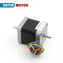 Nema17 CNC stepper motor 78 Oz-in (Dual shaft) 48mm stepping motor/1.8A for 3D Print CNC Router from RATTM MOTOR