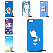 For iPhone 4 4S 5 5C SE 6 6S 7 Plus Galaxy J5 J3 A5 A3 2016 S5 S7 S6 Edge Japan Cartoon animals Doraemon Print Hard Phone Case