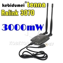 kebidumei long rang BT-N9100 Beini USB Wifi Adapter Wireless Network Card Ralink 3070 High Power 3000mW Dual Antenna(China)