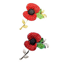 Poppies for sale promotion shop for promotional poppies for sale on hot sales 2018 hot sale high quality flowers brooch red poppy alloy brooch with elements hot sales mightylinksfo