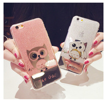 Buy Kerzzil Cute owl Bling Glitter Shining Hard Case iPhone 7 6 6S Plus lovely Cartoon Animal Phone Cover iPhone 6 7 6S Back for $3.23 in AliExpress store