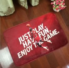Basketball Flannel Carpet Square Living Room Anti Slip Flooring Mat Flannel Rugs And Carpets Basketball Floor Mats Promotion