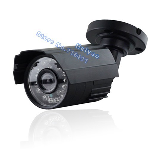 1200TVL CCTV Color Day &amp; Night 6mm 24 IRleds 20 meters outdoor Weatherproof Security Bullet IR CUT CCTV Camera with bracket<br>