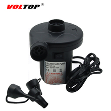 VOLTOP 12V Car Inflatable Pump Electric Inflator Air Pump Air Bed Boat Lifebuoy Barrel Camping Cigarette Lighter Plug Compressor(China)
