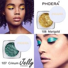 Single color Eyeshadow Jelly Gel Highlighter Make Up Shimmer Glow Eyeshadow maquiagem profissional completa eye shadow(China)