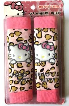 2016 new one pair hello Kitty Leopard Seat Belt Cover Set /Car Styling Safety Accessories