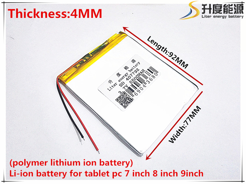 The New Battery 5500mAH Li-ion Tablet pc battery For 7,8,9 inch tablet PC ICOO 3.7V Polymer lithiumion Battery With High Quality<br><br>Aliexpress