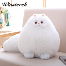 Fun Plush Fluffy Cats Persian Cat Toys Pembroke Pillow Soft Stuffed Animal Peluches Dolls Baby Kids Toys Gifts Brinquedos WW108(China)
