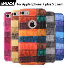 IMUCA For iPhone 6 6s plus cases covers Shell Skin For Apple iPhone 6 6s 7 plus Cover Cases pu leather+PC Crocodile cover cases(China)