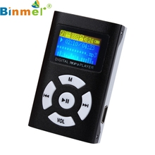 Binmer A18 USB Mini MP3 Player music players LCD Screen Support 32GB Micro SD TF Card