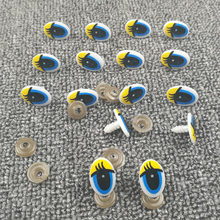 100pcs Doll Yellow Cartoon Eyes Safety Eyes for toys Handmade Plastic Doll Eye Children DIY Dolls Stuffed Animal Crafts Puppet(China)