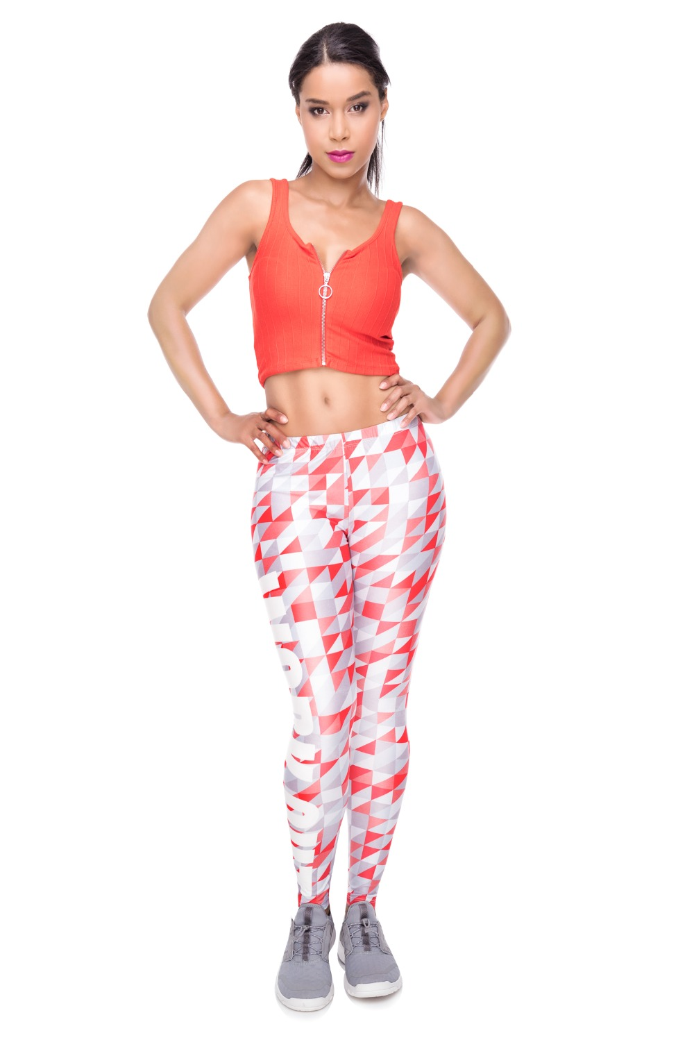 34259 WORK OUT triangle gray red (1)
