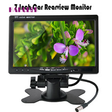 2017 new Car Rearview monitor rearview backup camera system 7 TFT LCD Screen Nightvision   camera drop shipping june12