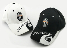 2017 hot teams can choose for Juventus soccer white Black football badge caps Adjustable Cotton Italy Shower Caps hats(China)