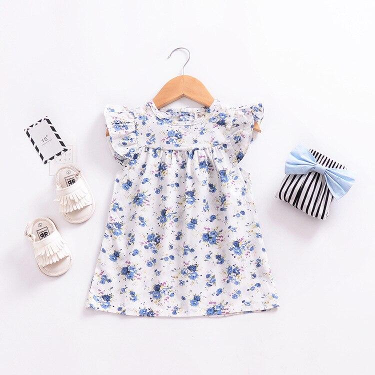 Mother nest 2018 Summer New Girls Flower Puff Sleeves Dress Cotton Children Kids Clothes Toddler Baby Birthday Kids Dresses (11)