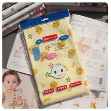 Free shipping 60*70cm 100% Cotton Yellow Duck Baby Products Nappy Changing Mat Newborn Waterproof Bed Mattress Pad