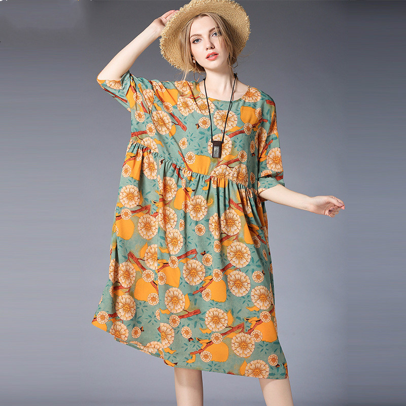 2018New Maternity Dress With Sling 2PieceSet Chiffon Loose Print Flower Pregnancy Dresses Spring Casual Women Maternity Clothes<br>