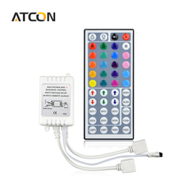 1Pcs DC12V Dual Connectors Output 44 Keys IR Remote Controller RGB Dimmer For Control 10M 3528 2835 5050 LED Strip light
