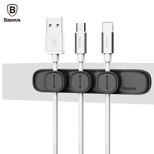 Baseus Durable Magnetic Cable Clip USB Cable Organizer Clamp Desktop Workstation Wire Cord Management Cable Winder