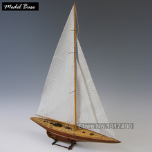 Wooden Ship Models Kits Diy Train Hobby Model Ship Assemblage 3d Laser Cut Wood Scale Model 1/80  Endeavour 1934 Boat Body