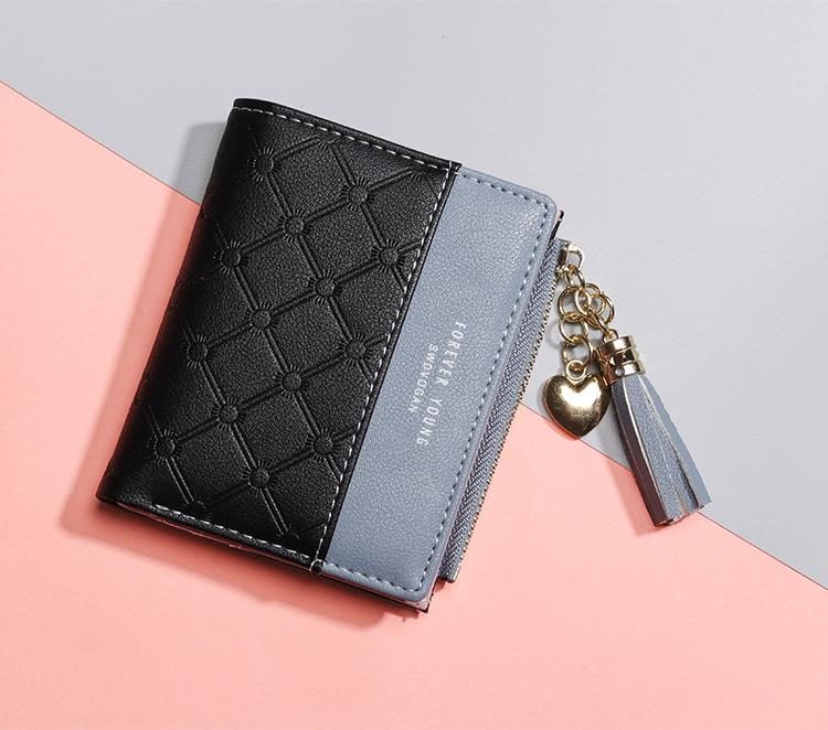 PU Leather,wallet female,wallet female women zipper,Fashion,Casual,Vintage,Black,Red,Brown,Blue,Pink wallet female leather (11)