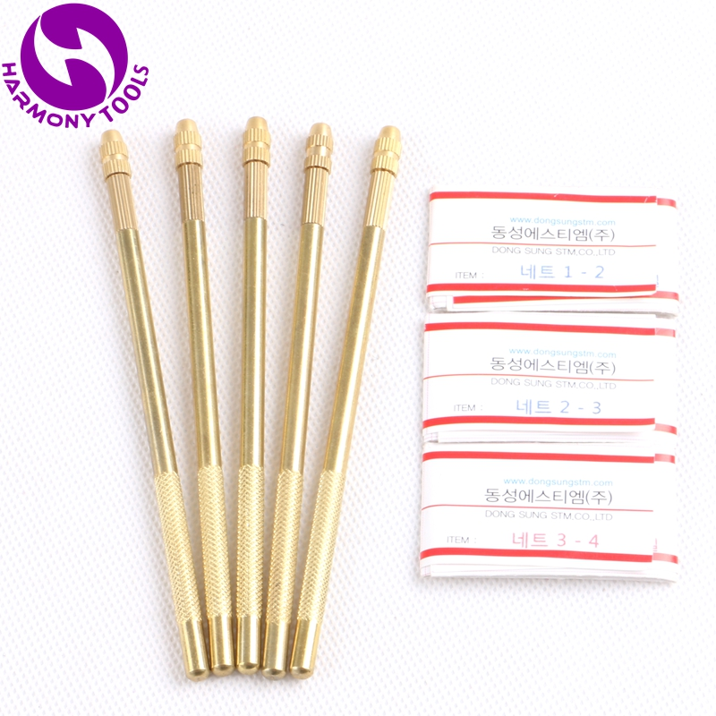 3pcs Ventilating Needles + 1pc Copper Brass Holder For Making Lace Wigs Toupee Hairpiece (8)