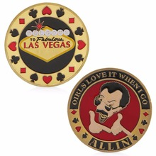 Las Vegas Poker Lucky Chips Commemorative Challenge Coin Collection Art Craft