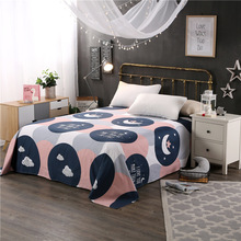 High quality 100% cotton bed sheets Flat Sheet Bed Linens Bedsheets Twin Full Queen size flat sheet bed cover Home Textile(China)