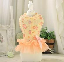 1pcs summer pet dog cat Floral princess dress doggy lovely party skirts puppy lace tutu dresses clothes dogs cats apparel XS-XL