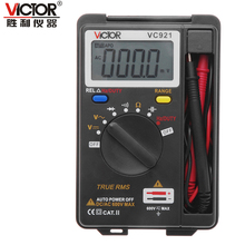 VICTOR VC921 3 3/4 DMM Integrated Personal Handheld Pocket Mini Digital Multimeter capacitance resistance frequency tester