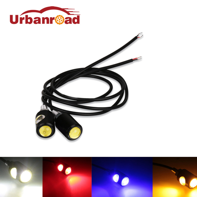 1Pair 12v Car motorbike motorcycle number plate lamp Led light motorcycle license plate light Scooter White Amber
