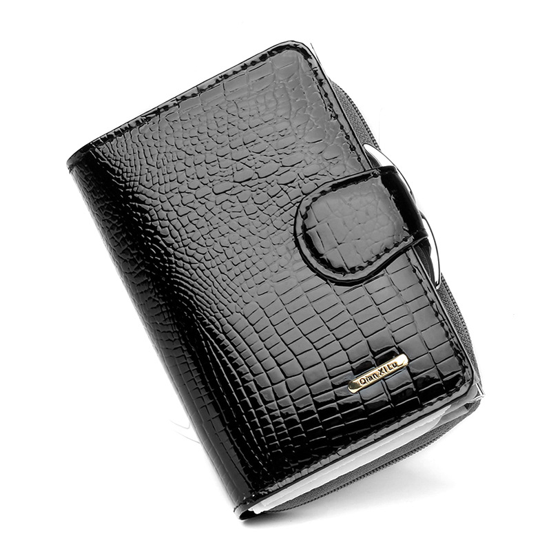 Fashion New Genuine Leather Women Short Wallet Crocodile Pattern Large Capacity Ladies Coin Change Purse Card Holder Best Gift<br><br>Aliexpress