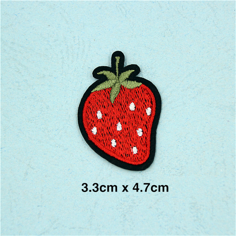 Pf Fine Stripe Fruit Patch Pineapple Embroidery For Clothing New Vario 110 Esp Cbs Iss Glam Red Kendal Applique Accessories Tops Bag Iron On Patches Stickers Tb211 Us234