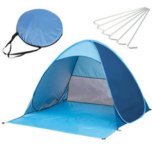 Outdoor Camping Waterproof Automatic single layer Tent 2-3 Person Outdoor Camping Hiking Fishing tent blue(China)