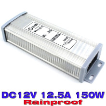 DC Power Supply 12v 12.5a 150w ac-dc power adapter AC180v-240v to DC12v USP Waterproof Led Driver for Led display strip light