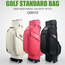 PGM Golf Caddy Bag.Wheel,Cap,Shoes Pocket, Handle.The Handle Can Be Invisible,Complete Golf Set Bag