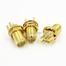 10PCS SMA Female Nut Solder PCB Clip Edge Mount 11cm RF Connector