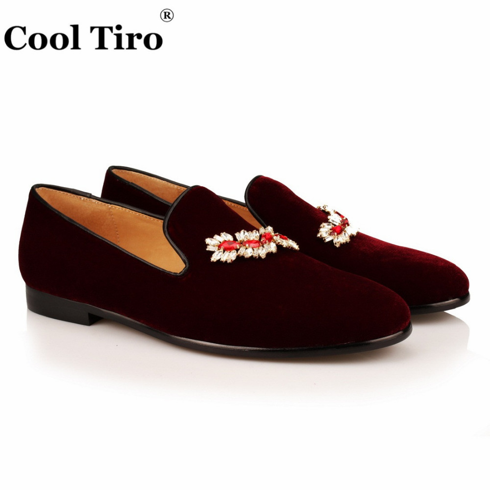 VELOUR BURGUNDY SLIPPERS Loafers (2)