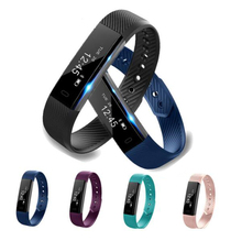 ID115 Bluetooth Smart Band Pedometer Fitness Tracker Step Counter Activity Monitor Band Alarm Sport Wristband for IOS Android