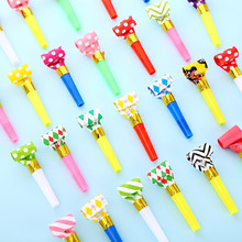 10Pcs/set Funny Colorful Whistles Kids Childrens Birthday Party Dot Blowing Dragon Blowout Baby Birthday Supplies Toys Gifts