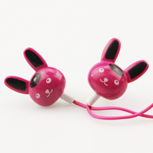 MOONBIFFY 3.5mm In-ear Rabbit Earphones Stereo headsets earbuds for mobile phone MP3 MP4 iPhone huawei for PC