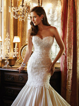 Wedding Dress Fair Only New Design Sweetheart Appliques And Beading Champagne Sexy Mermaid