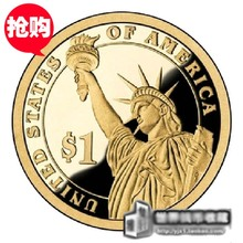 USA America 1 Dollar Coin President Collection, Statue of Liberty Gold  Coin, 100% Original Coins New & UNC