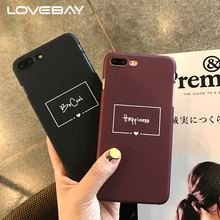 LOVEBAY Fashion Red Wine Letter Phone Case For iPhone 7 6 6s Plus Cute Funny Cartoon Letter Hard Pc Cases For iPhone 7Plus Cover(China)
