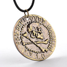 Metal Model Uncharted 4  A Thief's End Metal Pendant Necklace  Limited Collection Pirate Gold Coin Game Pendant