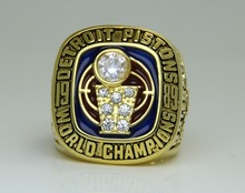 In 1989 the Detroit pistons basketball championship ring size 8 to 14(China)