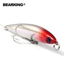 2017 hot model Bearking pencil 125mm 26g Fishing Wobblers 5pcs/lot Fishing Lure Bait Swimbait Crankbait with 2xstrong Hooks(China)
